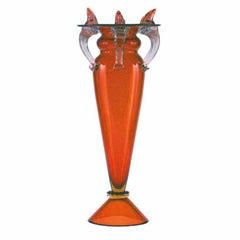 Florian II Medium Red Glass Vase by Borek Sipek for Driade
