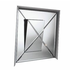 Osmond Aluminium Framed Mirror by Pietro Derossi for Driade