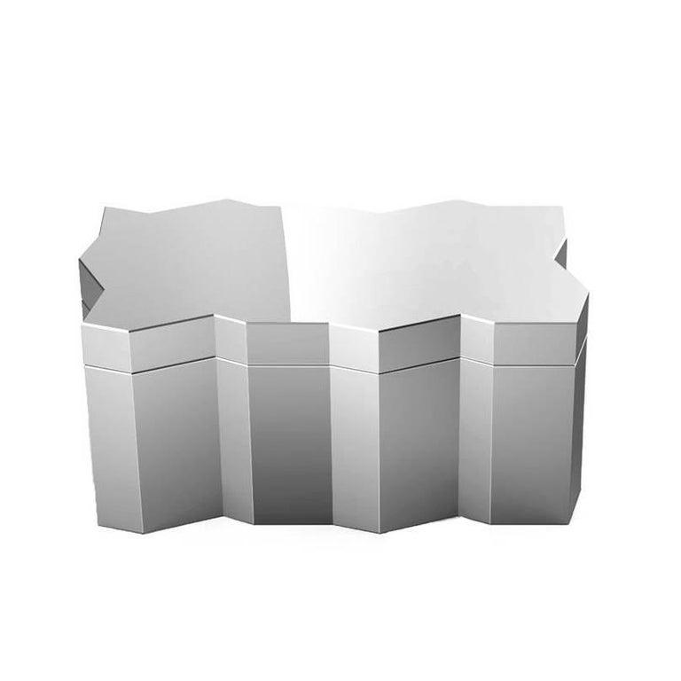 Frammenti Medium Box in Aluminium with Mirror Finish, Borromeo De Silva for Dria For Sale