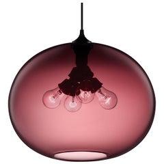 Terra Plum Handblown Modern Glass Pendant Light, Made in the USA