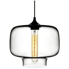 Oculo Crystal Handblown Modern Glass Pendant Light, Made in the USA