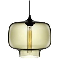 Oculo Smoke Handblown Modern Glass Pendant Light, Made in the USA