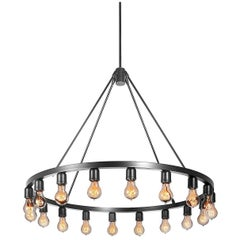 Spark Modern Polished Nickel Chandelier Light, Made in the USA