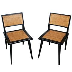 Mid-Century Modern Cane Backed Side Chairs
