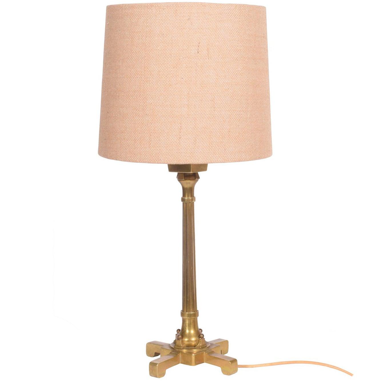 Thorvald Bindesbøll Arts & Craft Brass Table Lamp