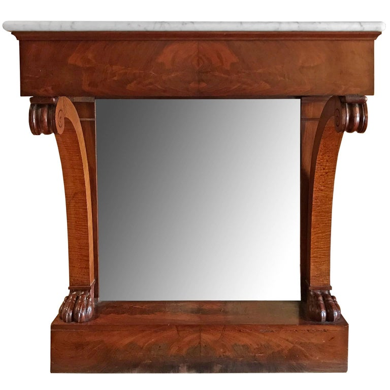 French Marble-Top Console Table