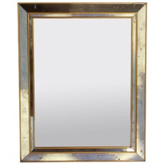1940s Gold and Mirror Framed Mirror
