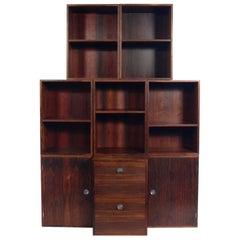 Finn Juhl Rosewood Modular Bookcase System