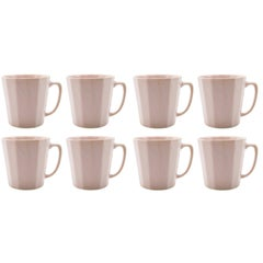 Monday Mug Sundog Pink and Silk White Matte Set of Eight Coffee Mugs