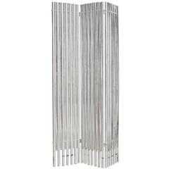 Lucite and Aluminum Folding Screen Wall Divider by Charles Hollis Jones