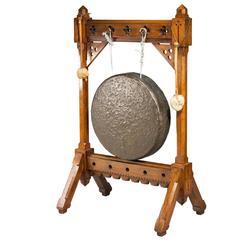 19th Century Oak Framed Gong