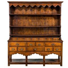 18th Century Period Dresser and Rack