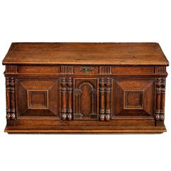 Oak Panelled Early 18th Century Chest