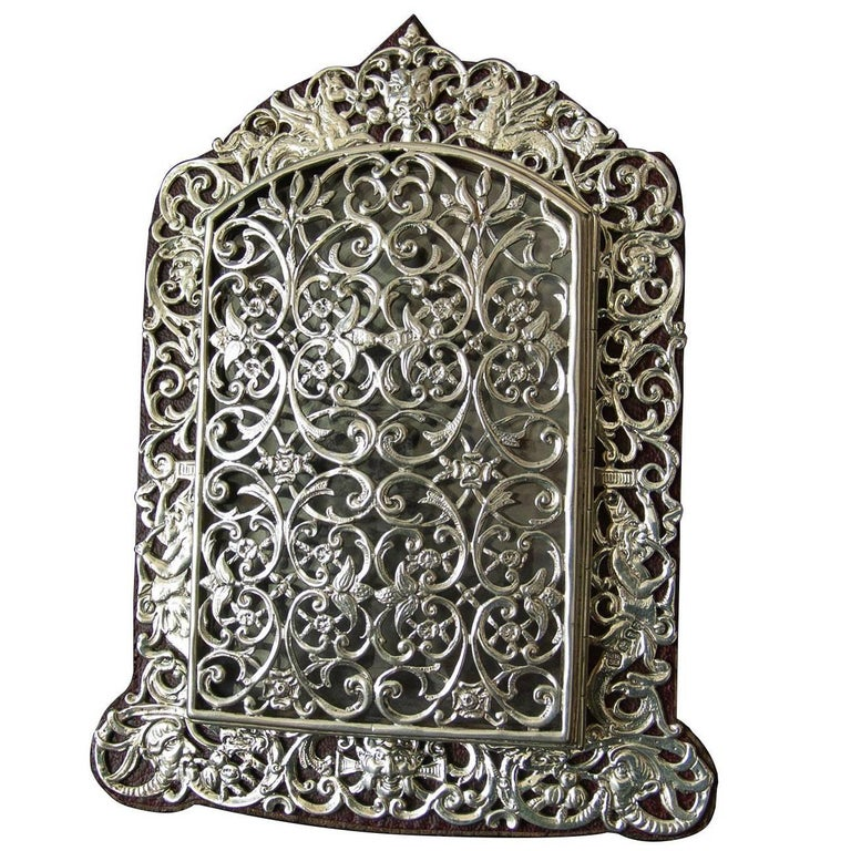 Victorian Sterling Silver Filigree Pierced Opening Photograph Frame ...