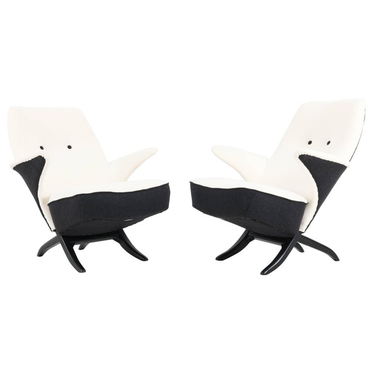 Pair of Mid-Century Modern Penguin Chairs by Theo Ruth for Artifort, 1957
