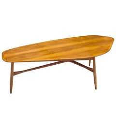 Danish Tripod Teak Coffee Table
