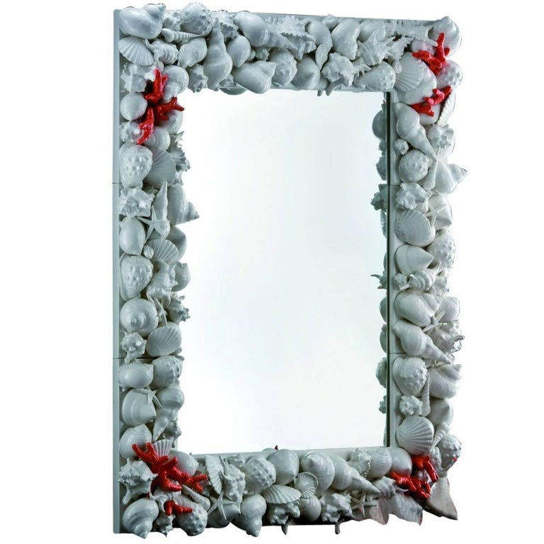 Conchiglie Rectangular Mirror For Sale