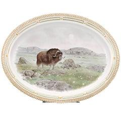 Flora Danica Musk Ox Serving Platter