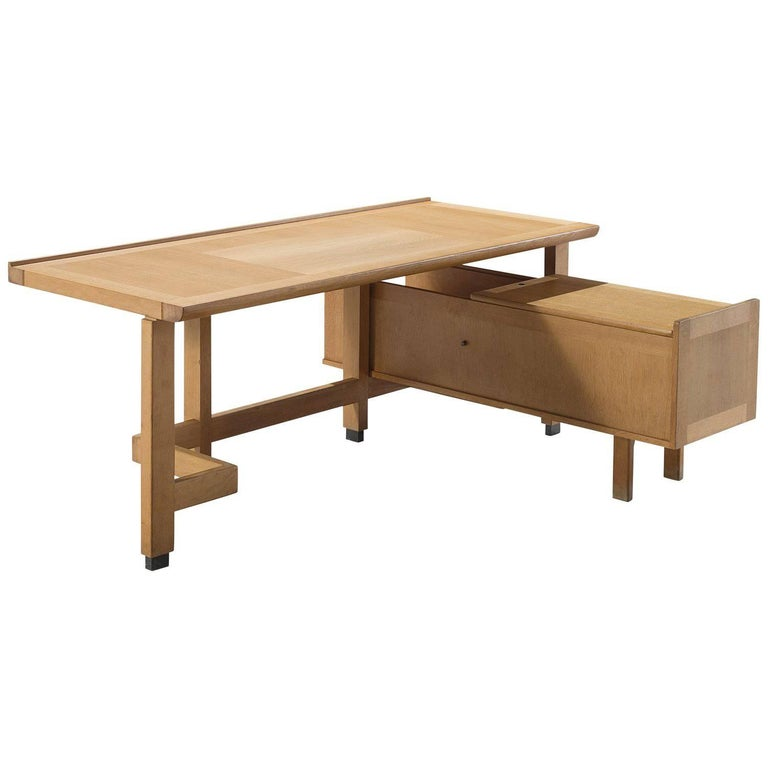 Guillerme et Chambron Corner Desk in Oak