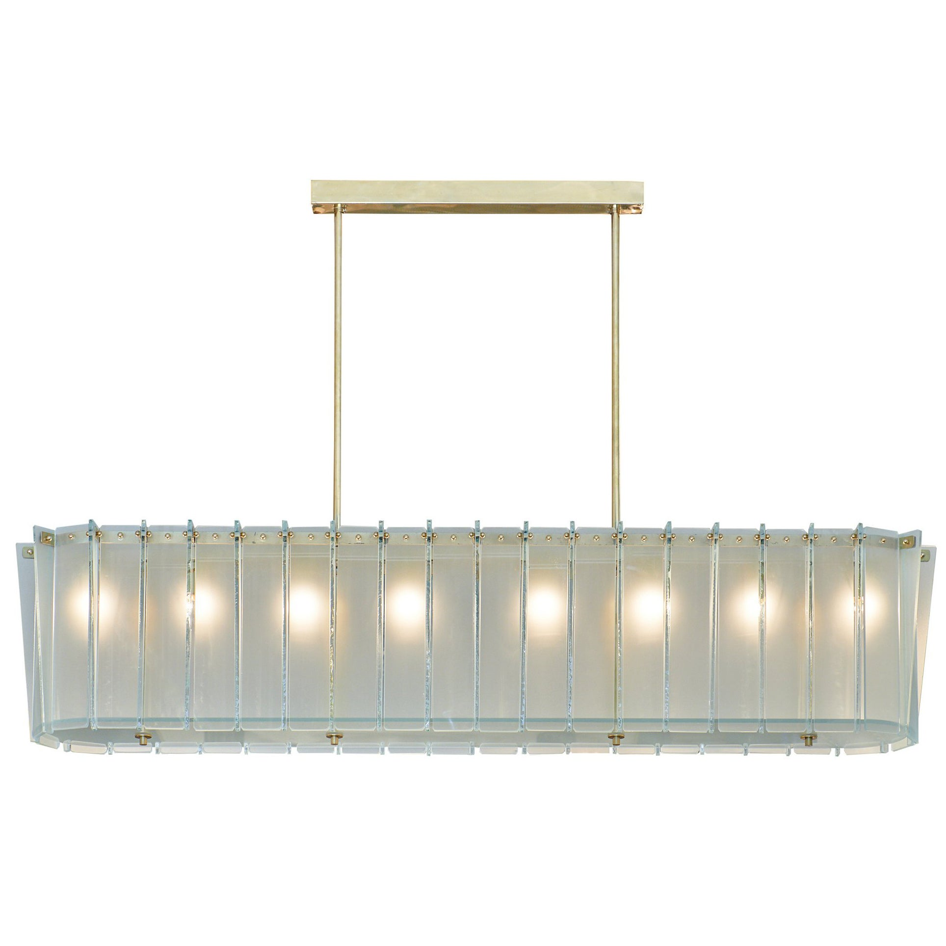 Murano Glass Frosted Modernist Chandelier