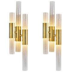Tube Shaped Murano Glass Sconces