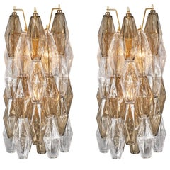 Murano Glass Polyhedral Sconces