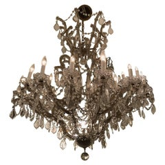 Large Maria Theresa Twenty Five-Light Crystal Chandelier