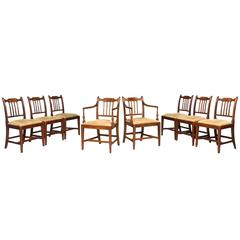 Eight George III Period Dining Chairs (Six Side Chairs plus Two Armchairs)