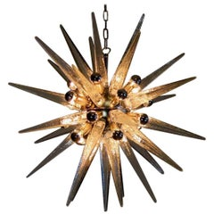 Exceptional Glass Sputnik Chandelier, Murano