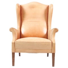 Wingback Chair in Leather