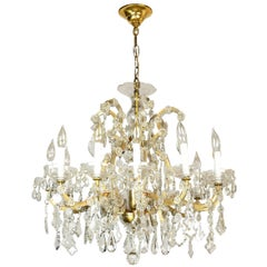 Twelve Arm Maria Theresa Crystal Chandelier