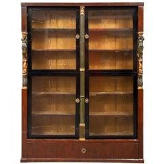 19th Century French Empire Mahogany Bookcase