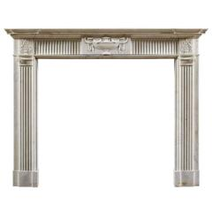 Antique 18th Century Neoclassical Style Fireplace Mantel