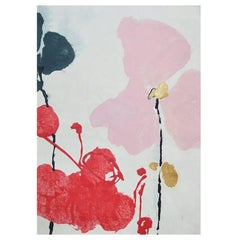 Unique Handmade Contemporary Unframed Paper Abstract Painting with Acrylic Ink