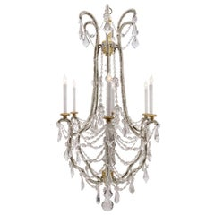 Italian 18th Century Louis XVI Period Gilt and Crystal Chandelier
