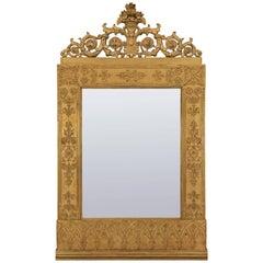 Italian Mid-18th Century Neoclassicism Giltwood Barberini Family Mirror