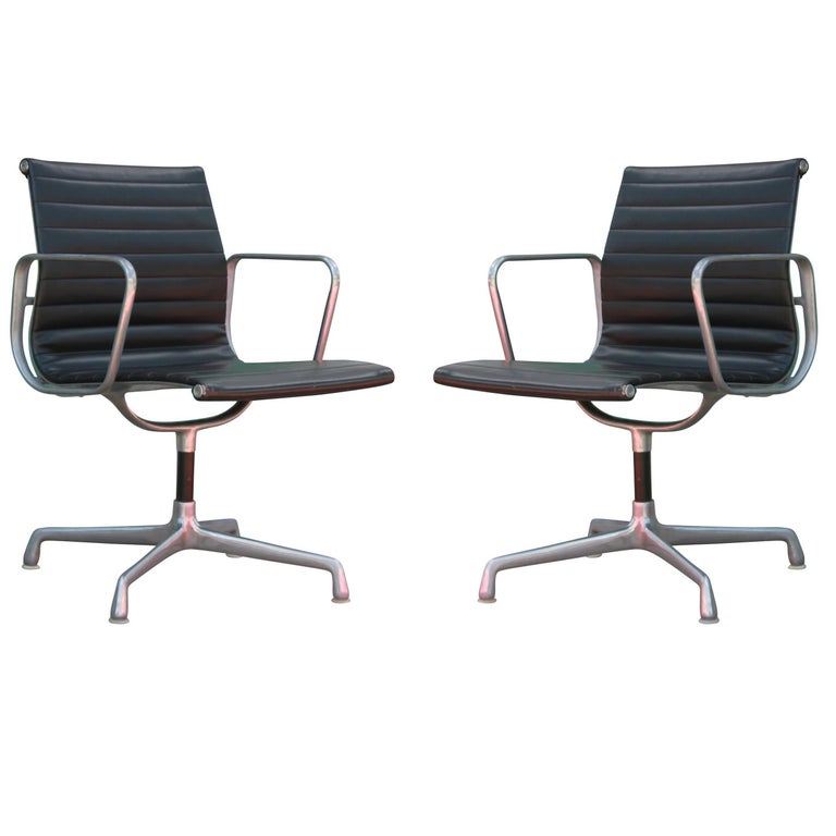 Pair of Herman Miller Aluminum Group Office Chairs