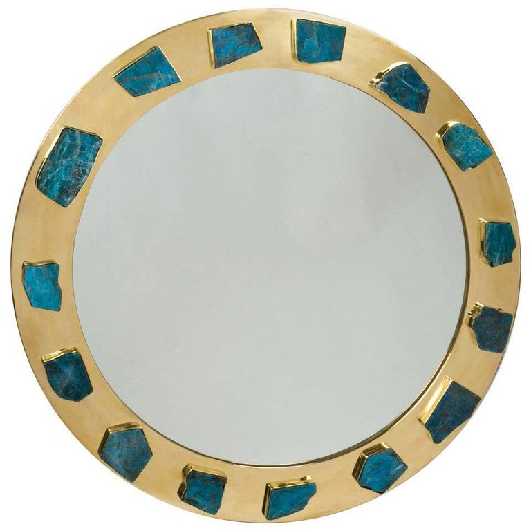 Bauble Apatite Mirror For Sale