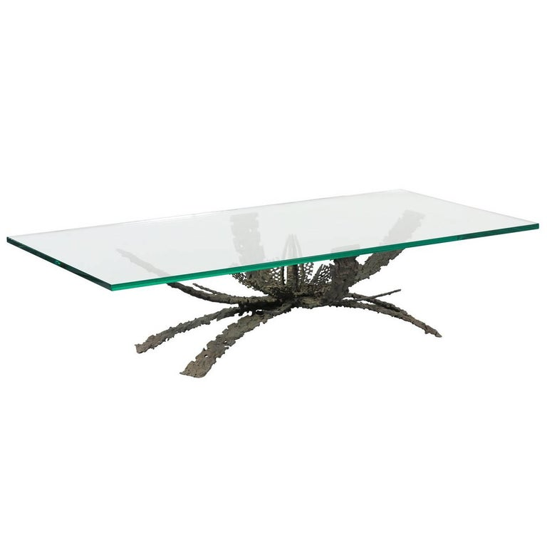 Daniel Gluck Abstract Bronze Coffee Table