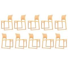 Set of Ten Side Chairs by Børge Mogensen