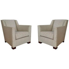 Art Deco Club Chairs Attributed to DIM 'Joubert et Petit'