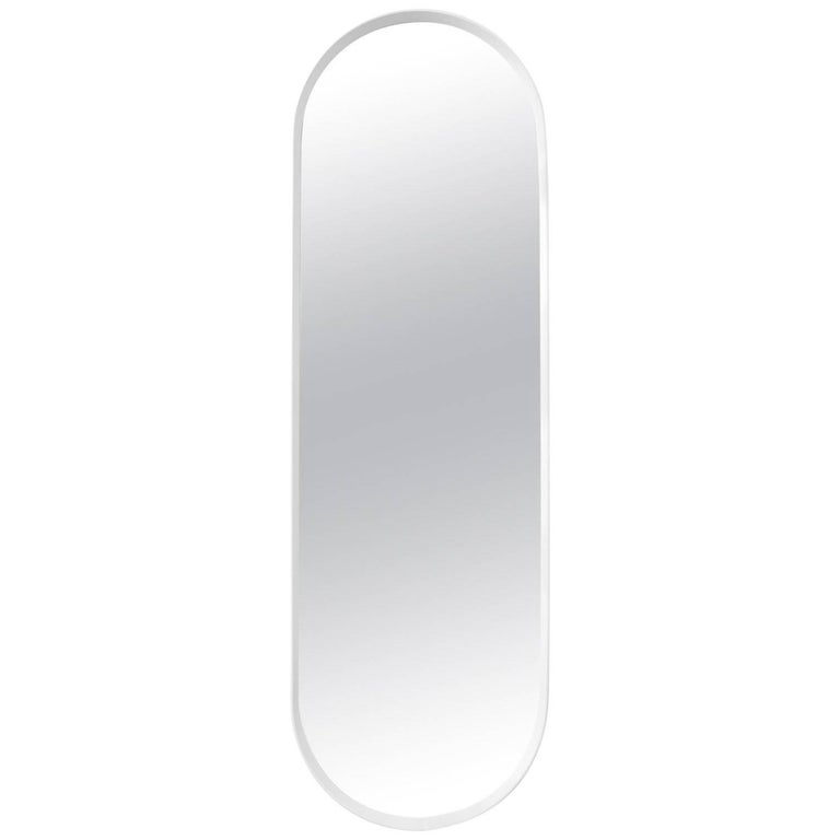 Oval Wall Mirror by Norm Architects in White Frame