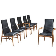 De Coene Set of Six Black Madison Dining Chairs
