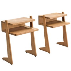 Guillerme et Chambron Oak Nightstands