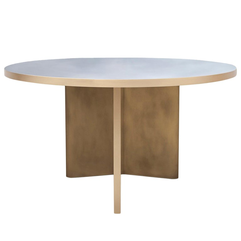Vega Dining Table 'Round', Customizable Metal and Resin