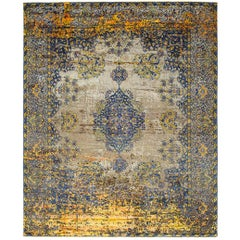 Kirman Robson Artwork Carpet from Erased Heritage Collection by Jan Kath