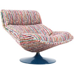 Mid-Century Modern Swivel Chair Model F518 by Geoffrey Harcourt for Artifort