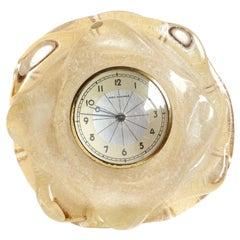 Seguso Vetri d'Arte Murano Pulegoso Bubbles Italian Art Glass Desk Clock