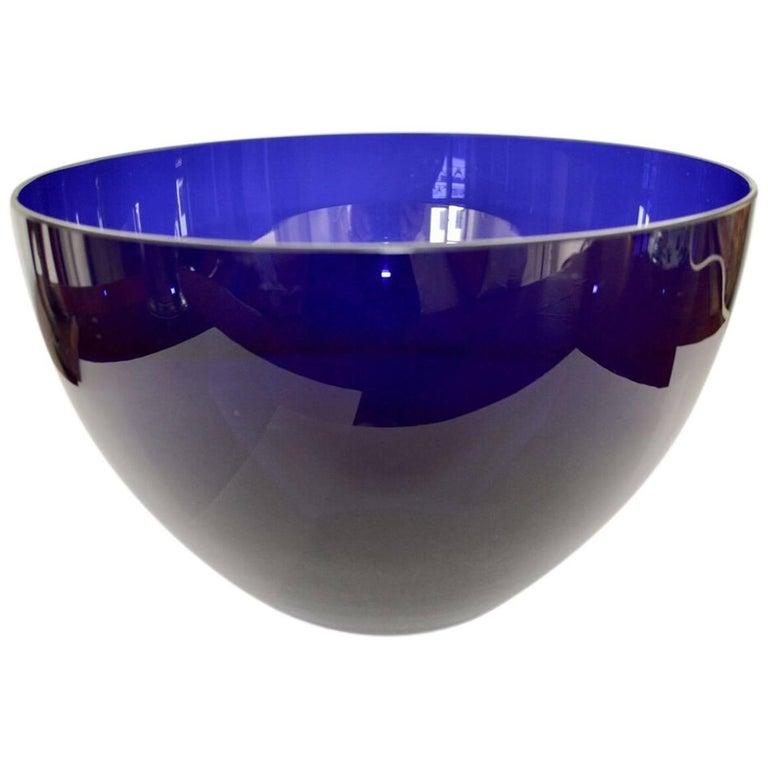20th Century Big Blue Salad Bowl