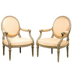 Pair of Louis XVI Design Armchairs